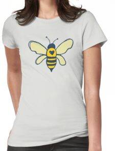 Bees and Flowers Womens Fitted T-Shirt