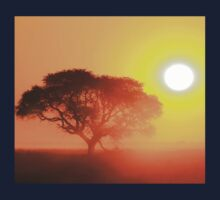 Camel Thorn Tree - African Sunset Tranquility  Kids Tee