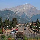 Downtown Banff  by Vickie Emms