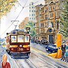Vintage Tram, Melbourne by Virginia  Coghill