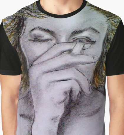 Smoking Marilyn  Graphic T-Shirt