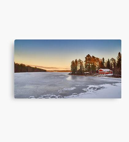 Sunset over Sweden Canvas Print