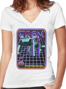 Vintage Tron Game Women's Fitted V-Neck T-Shirt