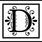 Letter D Monogram by imaginarystory