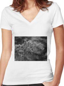 Ever Black&White Women's Fitted V-Neck T-Shirt