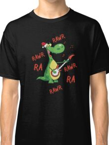 Singing Christmas Dinosauar Classic T-Shirt