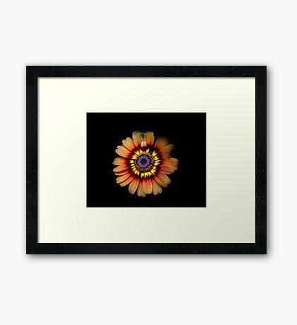 Tiedye Sunflower Framed Print