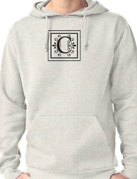 Letter C Monogram Pullover Hoodie