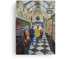 Shopping in Royal Arcade, Melbourne Canvas Print