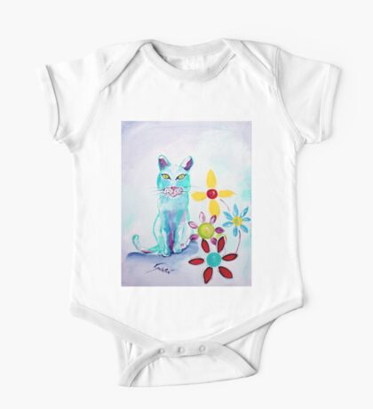 I See You - Cat Art by Valentina Miletic One Piece - Short Sleeve