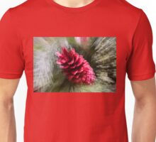 Abstract Christmas - Red Pine Cone Blast Unisex T-Shirt