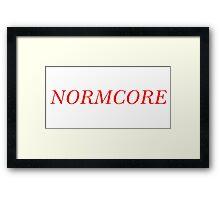 NORMCORE [Red] Framed Print