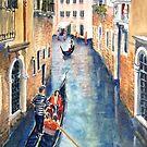 Venice Gondolas 2A by Virginia  Coghill