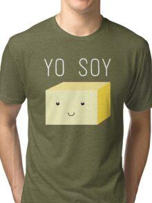 Yo Soy - Cute Tofu Block Tri-blend T-Shirt