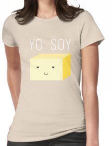 Yo Soy - Cute Tofu Block Womens Fitted T-Shirt