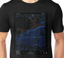 USGS TOPO Map Arkansas AR Mulberry 259192 1987 24000 Inverted Unisex T-Shirt