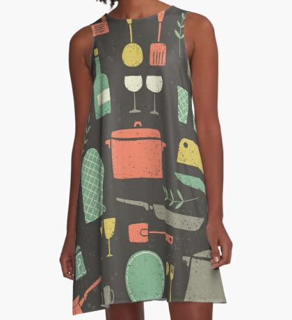 Love Your Kitchen. Retro Edition A-Line Dress