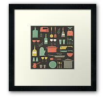 Love Your Kitchen. Retro Edition Framed Print