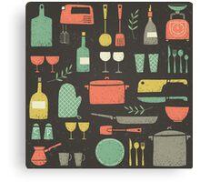 Love Your Kitchen. Retro Edition Canvas Print