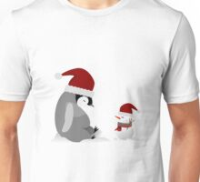 Penguin and snowman  Unisex T-Shirt