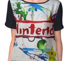 Nintendo Watercolor Splash Art Chiffon Top