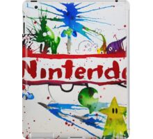 Nintendo Watercolor Splash Art iPad Case/Skin
