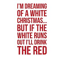 White or Red Wine Photographic Print