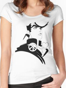 Josuke Higashikata sketch JOJO Women's Fitted Scoop T-Shirt