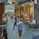 Centre Way blue by Virginia  Coghill