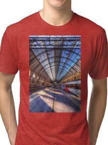Kings Cross Rail Station London Tri-blend T-Shirt