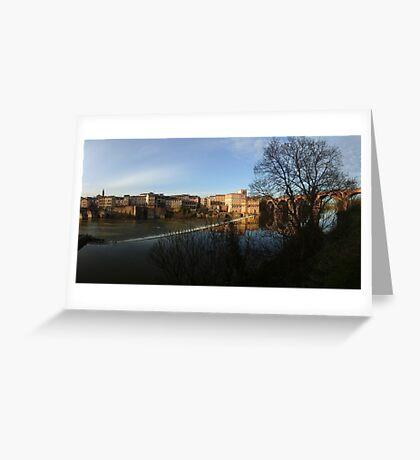 Panorama Berges du Tarn, Albi Greeting Card