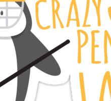 Crazy (ICE HOCKEY) Penguin Lady Sticker