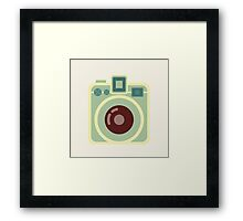 Vintage Square Camera Framed Print