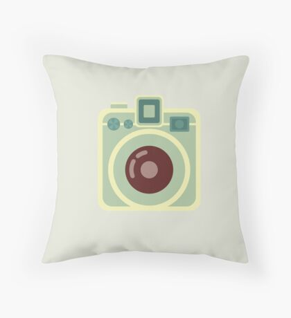 Vintage Square Camera Throw Pillow