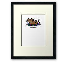 Kitty Cat Love! Framed Print