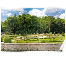 Garden of Diane de Poitiers, Chateau de Chenonceaux, Loire Valley, France Poster