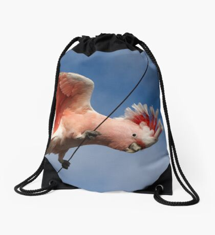Major Mitchell's Cockatoo (Pink Cockatoo) ~ The Entertainer Drawstring Bag