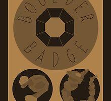 Boulder Badge - Kanto Region - Pokemon by H-Driscolls