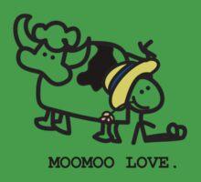 MooMoo Love - Who loves cows?  Kids Tee