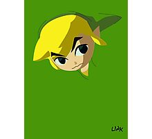 game faces: link (wind waker) Photographic Print