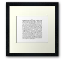 Base short story (dark sci-fi) Framed Print
