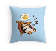 King Penguin Dreams Throw Pillow
