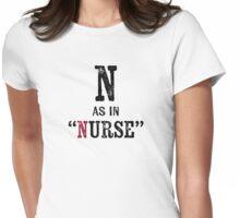 Nurse T-shirt - Alphabet Letter Womens Fitted T-Shirt
