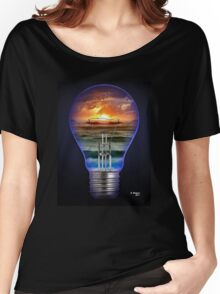 SEASCAPE ON A BULB, by E. Giupponi Women's Relaxed Fit T-Shirt