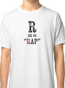 Rap T-shirt - Alphabet Letter Classic T-Shirt
