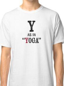 Yoga T-shirt - Alphabet Letter Classic T-Shirt