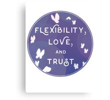 Flexibility, Love, and Trust Canvas Print