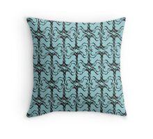 Everybody Loves Swirls (Light Blue) Throw Pillow