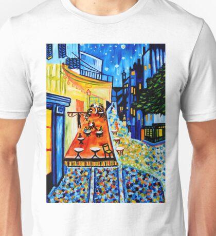 Cafe Terrace at Night Unisex T-Shirt