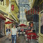 Degraves St guy by Virginia  Coghill